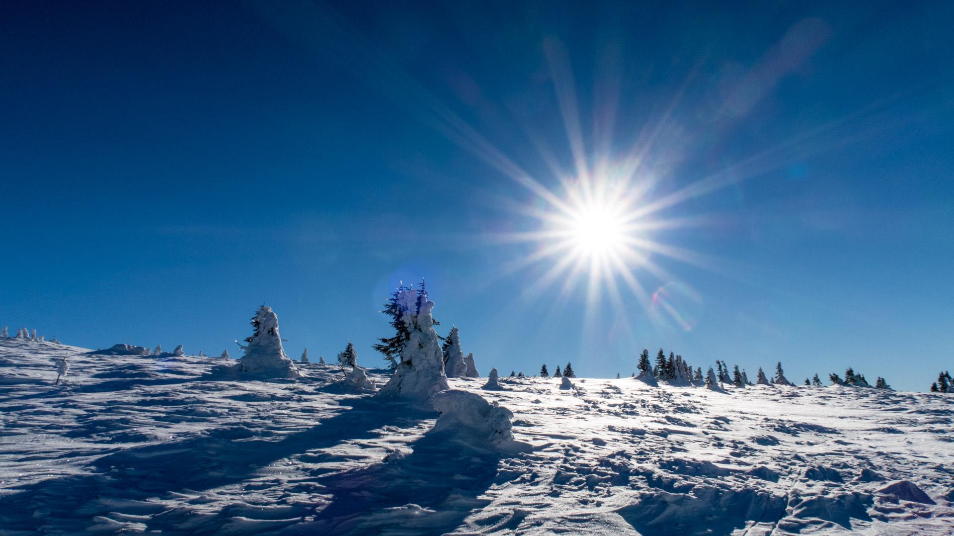 Zima na Pradziadzie jest bardzo urokliwa.